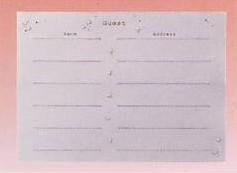 CLOTHES・PIN社もんシリーズクローバー柄のゲストブックレフィル(50名様分の記帳が可能)です。