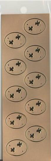 CLOTHES・PIN社もんシリーズクローバー柄のシール(10片)です。招待状の封筒などをとめるのにピッタリのシールです。