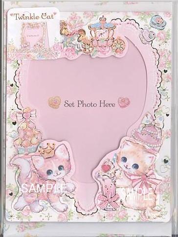 縦長のL判写真が1枚入る立てて飾れるフォトフレームカード(絵柄入り封筒付)です。