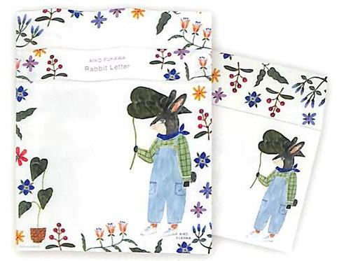 美濃和紙使用の布川愛子(Aiko Fukawa)さんのレターセット(カタログ画像)