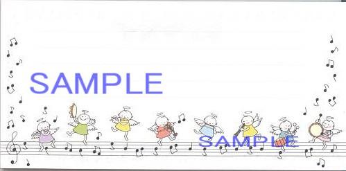 天使のオーケストラの一筆箋(2柄各18枚入り)です。