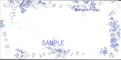 楽譜と花とを描いた一筆箋(2柄各18枚入り)です。