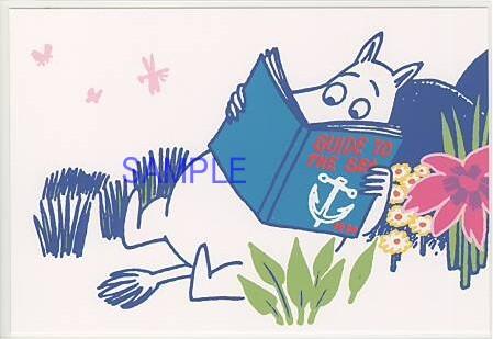 ムーミンキャラクターのポストカードです。