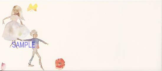 いわさきちひろ1968年作「ふたりのぶとうかい」花の輪のなかで踊るふたり