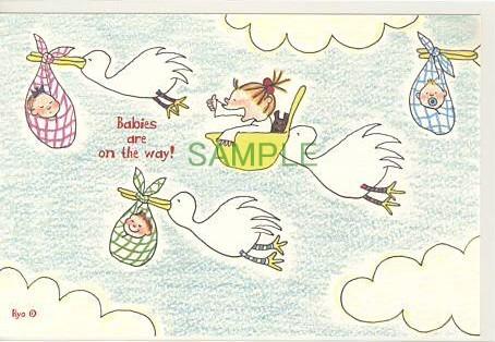 ココポストカード「Babies are on the way!」
