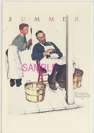 ノーマン・ロックウェル作画のポストカードです。