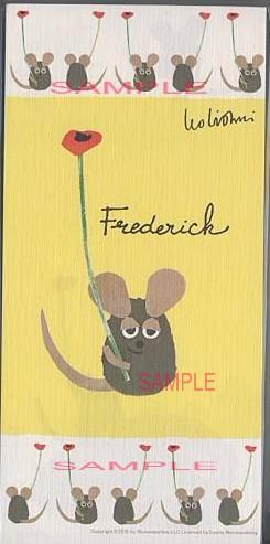 美濃和紙を使ったレオ・レオニ「Frederick」の一筆箋(4柄各5枚計20枚綴)です。